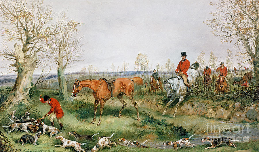 Hunting Scene Painting by Henry Thomas Alken