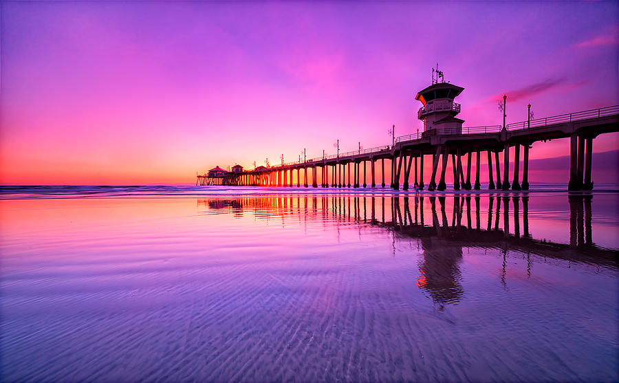 Huntington Photograph - Huntington Beach by Lincoln Harrison