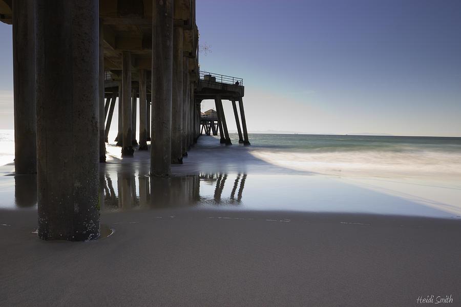 Beach Photograph - Huntington Beach Pier - Looking Out by Heidi Smith