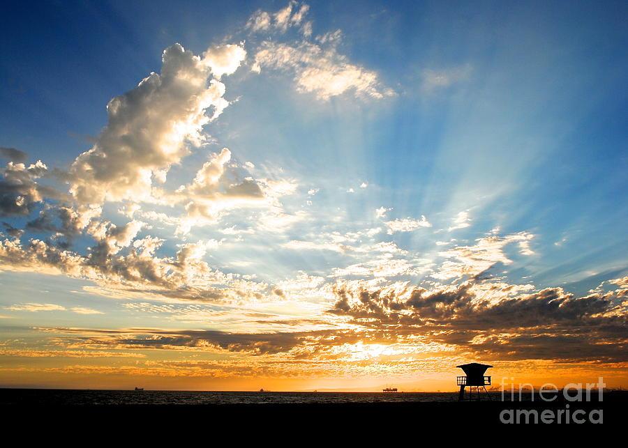 Huntington Beach Photograph - Hallelujah  Sunset by Margie Amberge