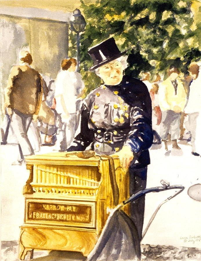 Berlin Painting - Hurdy Gurdy Frau by Leisa Shannon Corbett