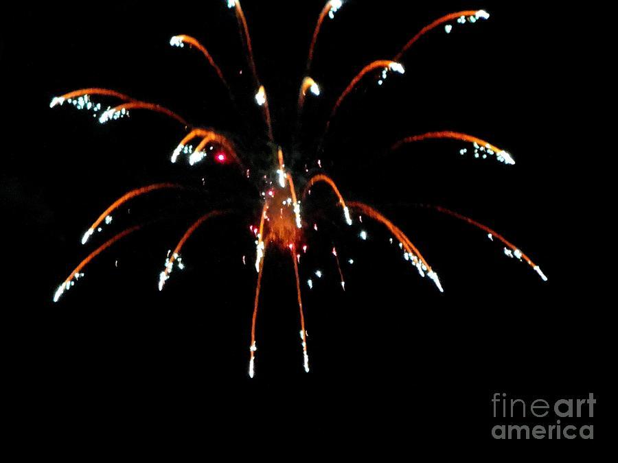 Huron Mixed Media - Huron Ohio Fireworks 11 by Jackie Bodnar