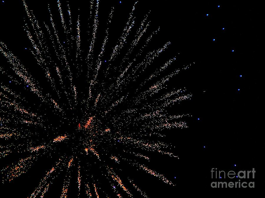 Huron Mixed Media - Huron Ohio Fireworks 14 by Jackie Bodnar