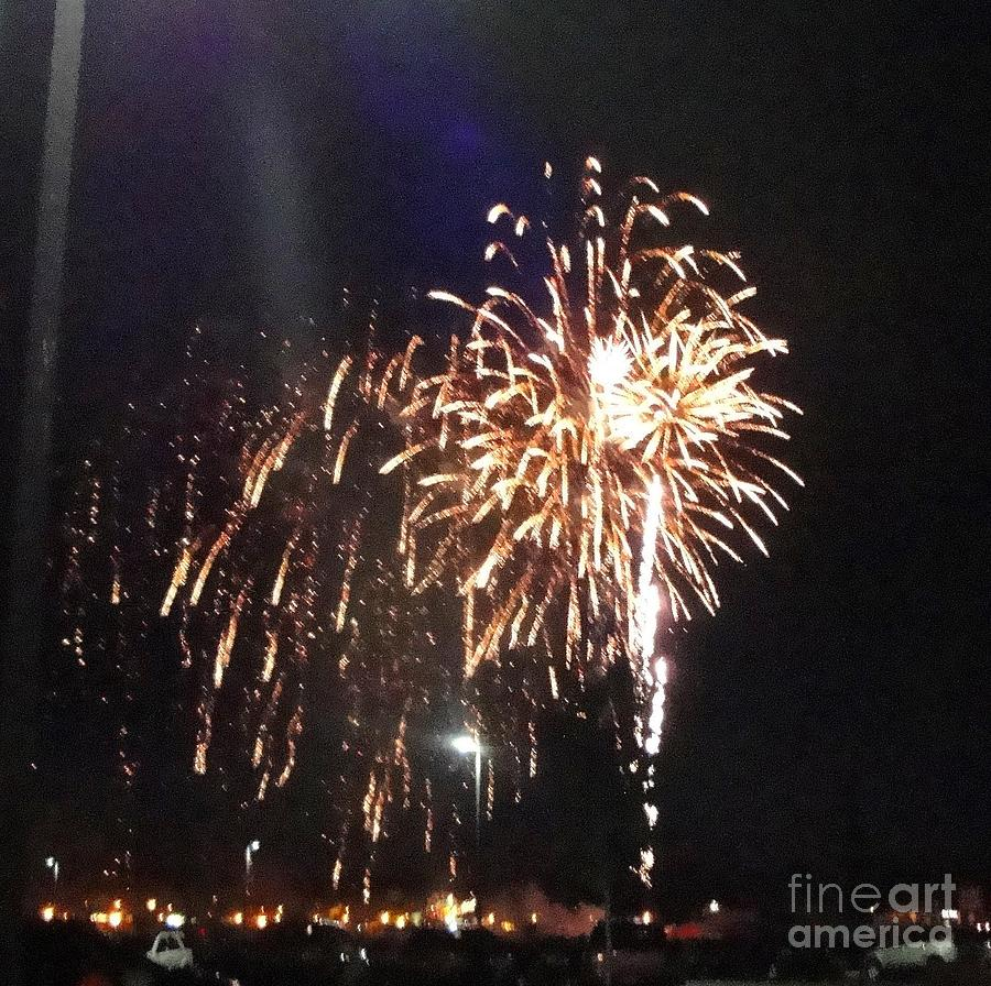 Huron Photograph - Huron Ohio Fireworks 2 by Jackie Bodnar