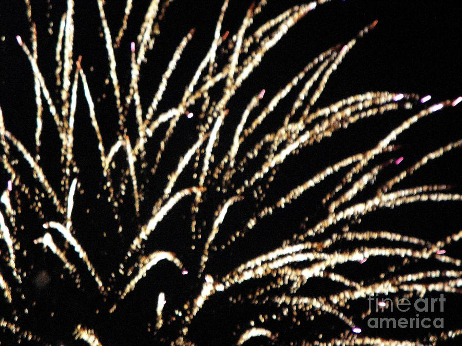Huron Mixed Media - Huron Ohio Fireworks 9 by Jackie Bodnar