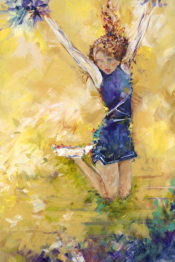 Cheer Team Painting - Hurrah by Karen Ahuja