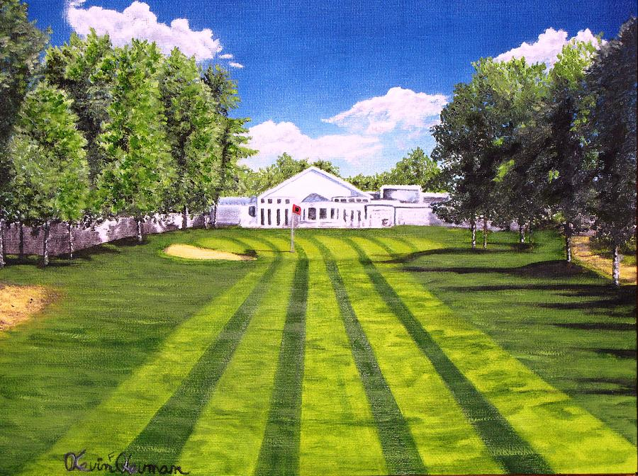 Golf Painting - Hurricane Andrew Memorial by Kevin F Heuman