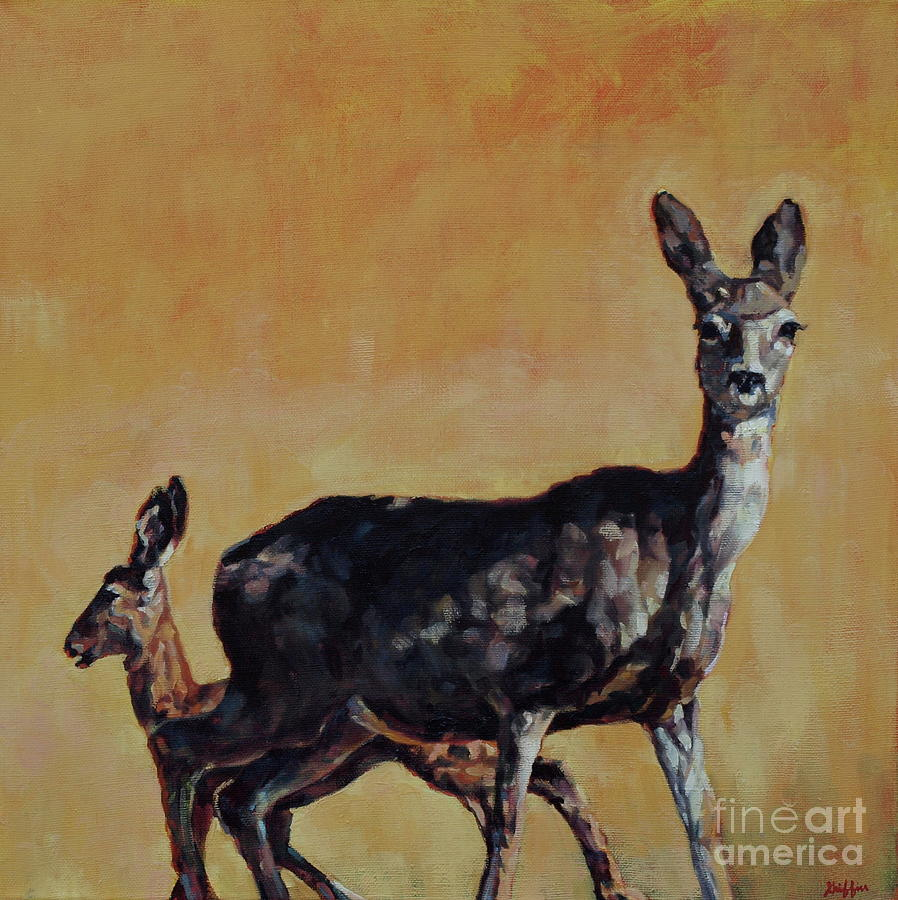 Mule Deer Painting - Hurricane Child by Patricia A Griffin