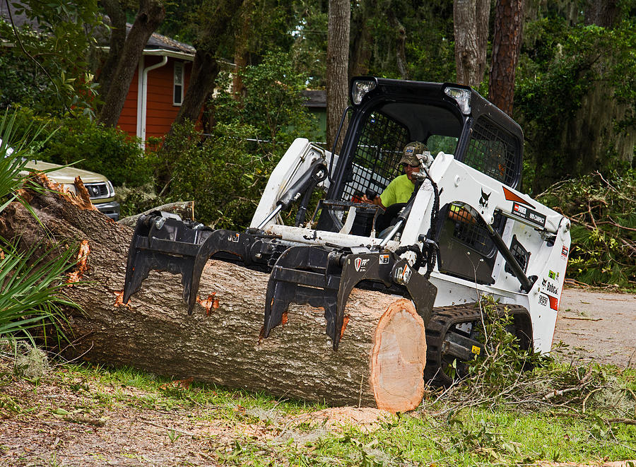 Cyclone Photograph - Hurricane Irma Damage, Bobcat Tractor by Millard H. Sharp