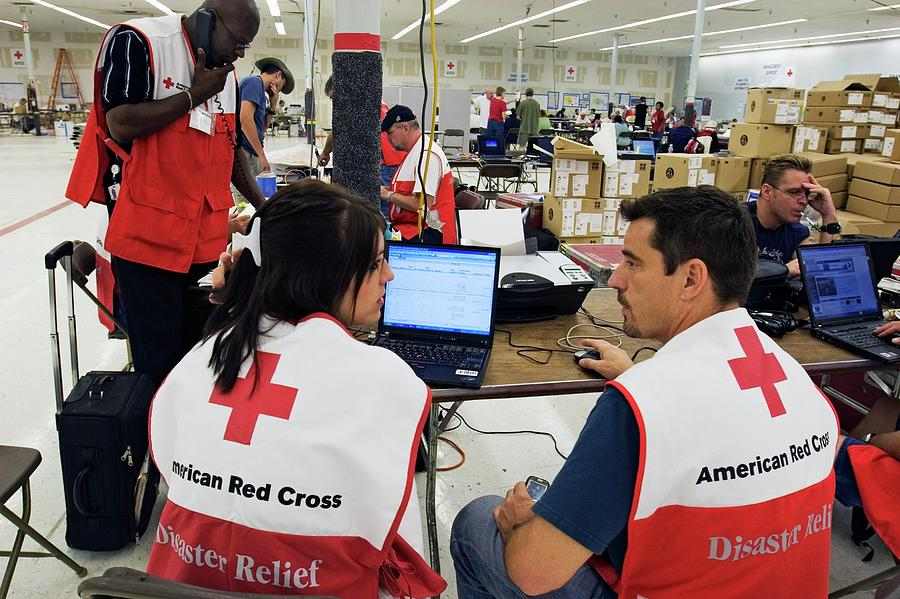 Human Photograph - Hurricane Katrina Coordination Centre by Jim West