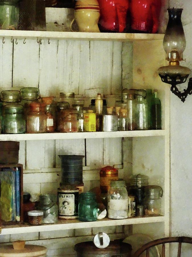 Pantry Photograph - Hurricane Lamp In Pantry by Susan Savad