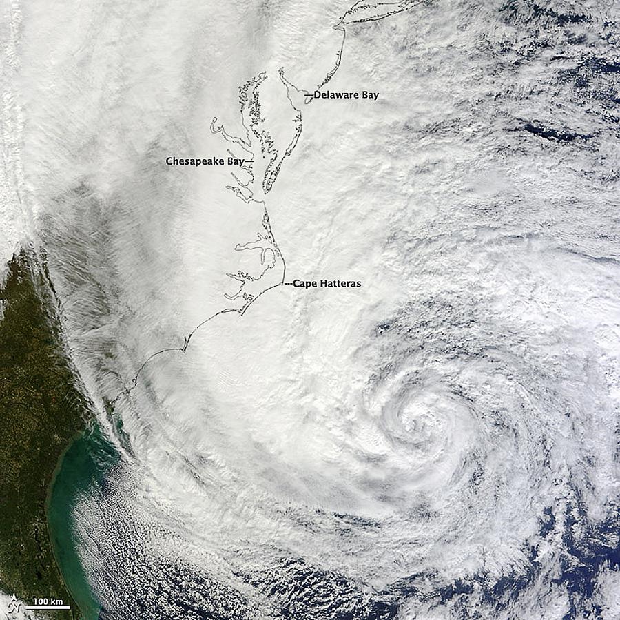 Hurricane Sandy, October 30 2012. Nasa Photograph by Callista Images