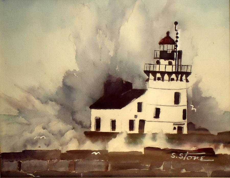 Weather Painting - Hurricane Sandy by Sandra Stone