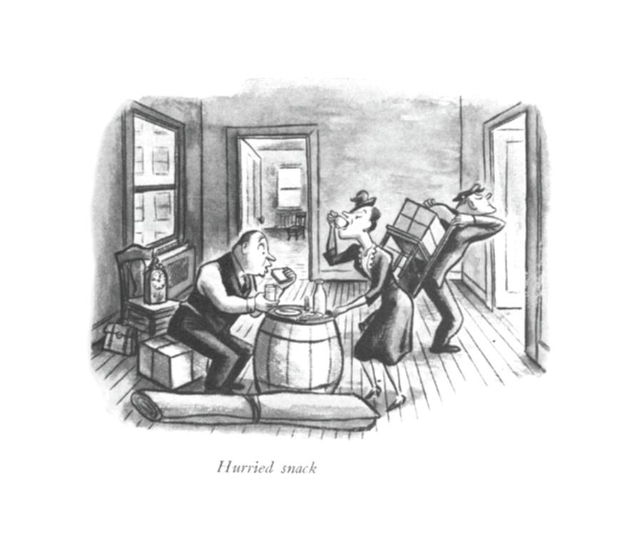 Hurried Snack Drawing by William Steig
