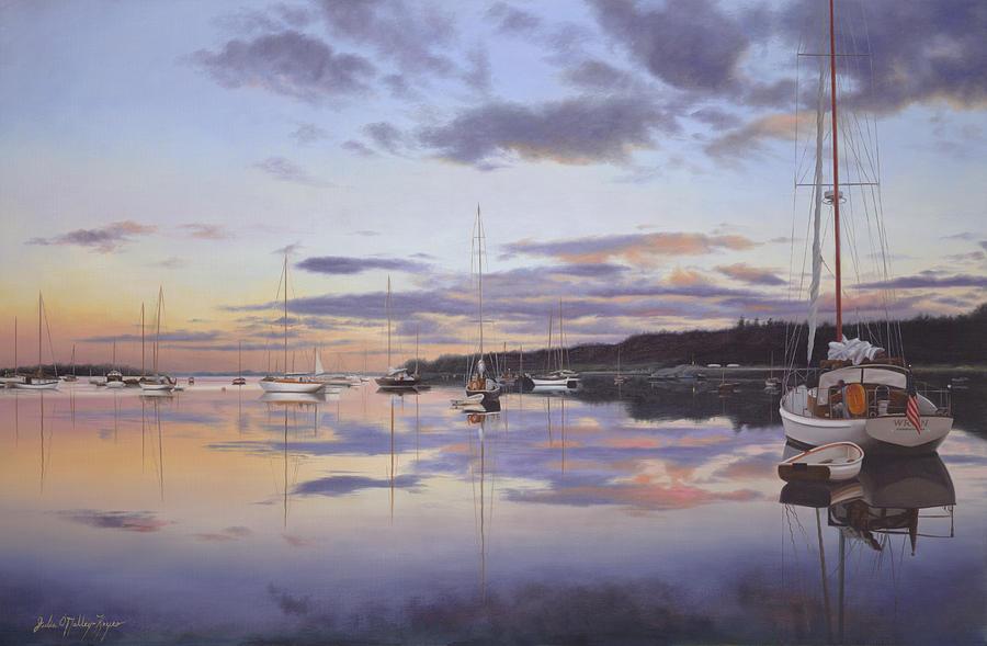 Cape Cod Painting - Hurry Sundown Cape Cod by Julia OMalley-Keyes
