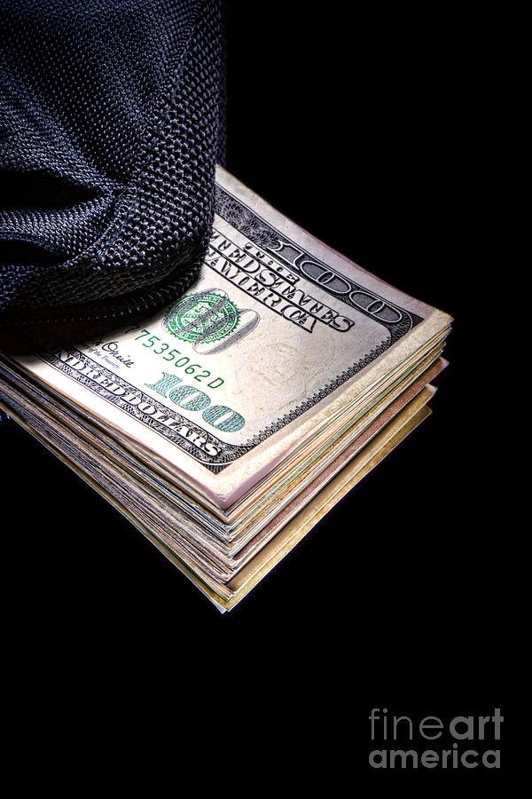 Cash Photograph - Hush Money by Olivier Le Queinec