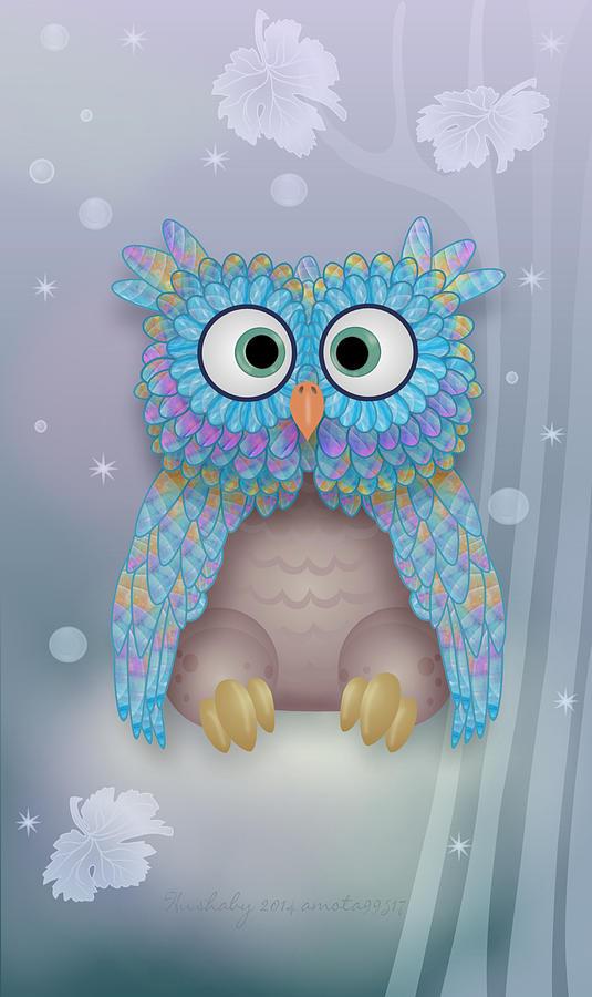 Owls Digital Art - Hushaby by Gayle Odsather