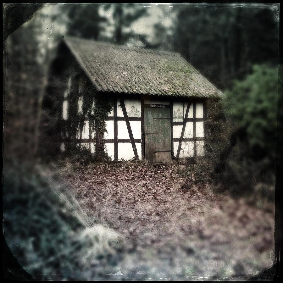 Hut Photograph - Hut in the forest - nature park Schoenbuch Germany by Matthias Hauser