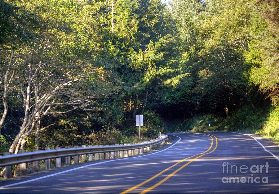 Hdr Photograph - Hwy 101 North by Chris Anderson