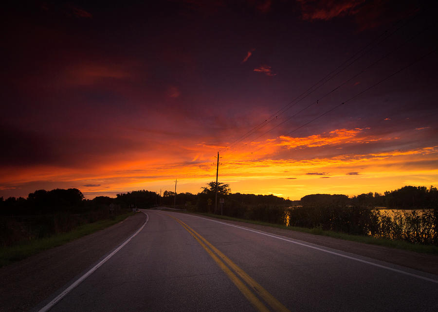 Hwy 20 Sunset Photograph