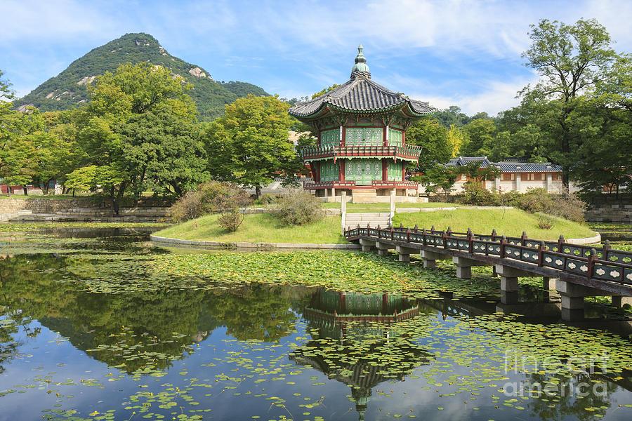 Hyangwonjeong Gyeongbokgung Seoul South Korea by Ken Brown