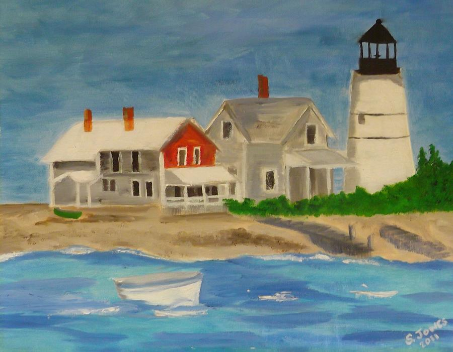 Hyannis Painting - Hyannis Lighthouse by Sally Jones
