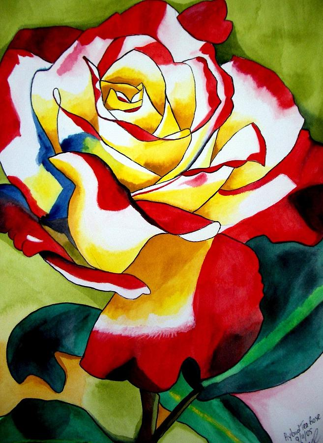 Rose Painting - Hybrid Tea Rose by Sacha Grossel