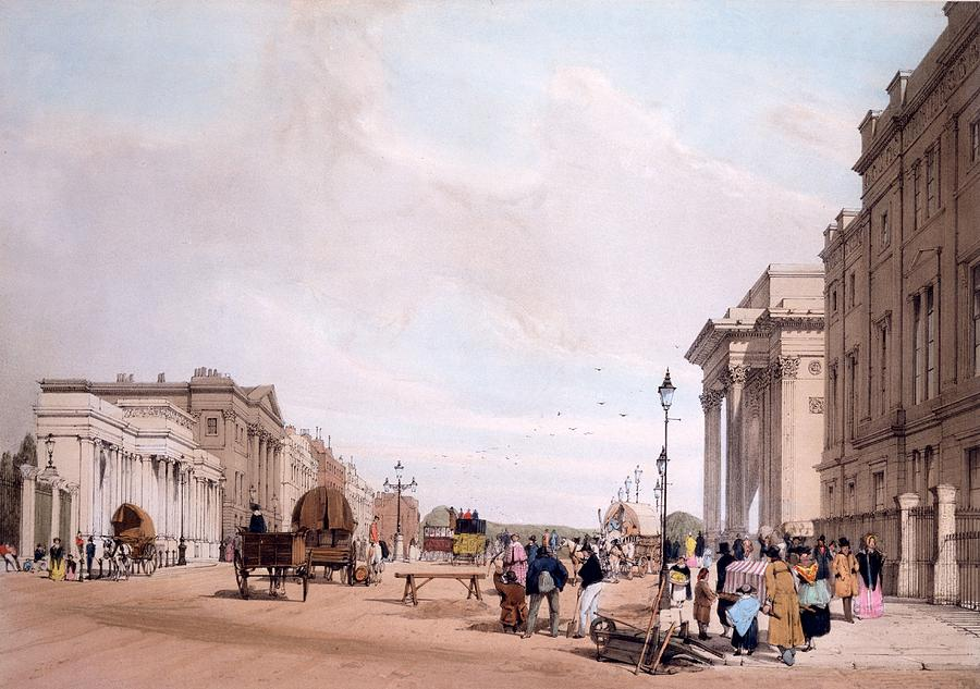 Hyde Park Corner Drawing - Hyde Park Corner, Looking by Thomas Shotter Boys