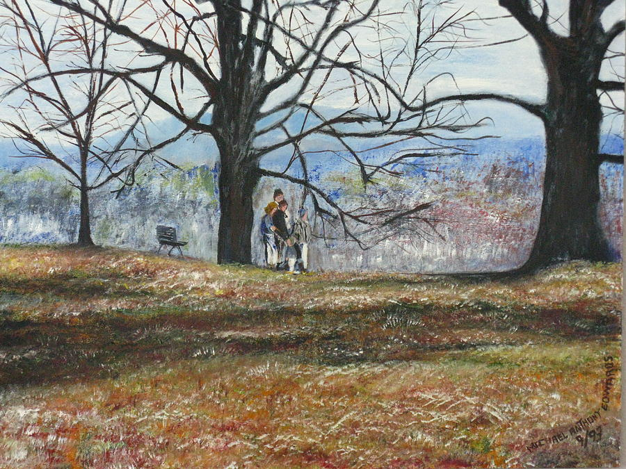 Landscapes Painting - Hyde Park Ny by Michael Anthony Edwards