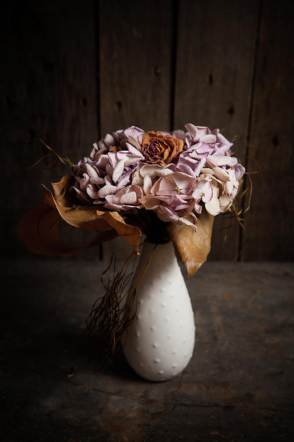 Hydrangea And Rose Bouquet Photograph by Sematadesign