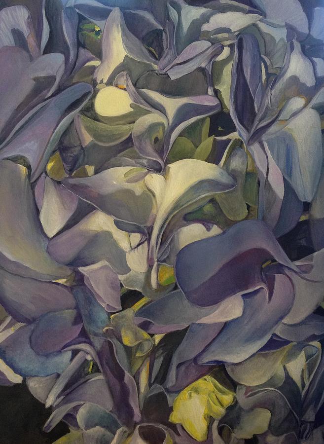 Hydrangea Painting - Hydrangea by Lin-Lin Mao