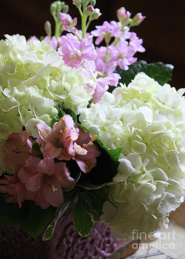 Hydrangea Photograph - Hydrangeas Bouquet by Carol Groenen