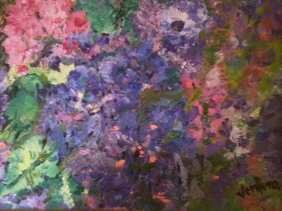 Purple Painting - Hydrangeas by Clare Ventura