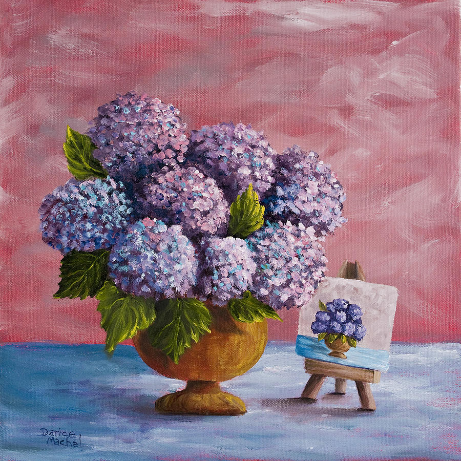 Hydrangea Painting - Hydrangeas From My Garden by Darice Machel McGuire