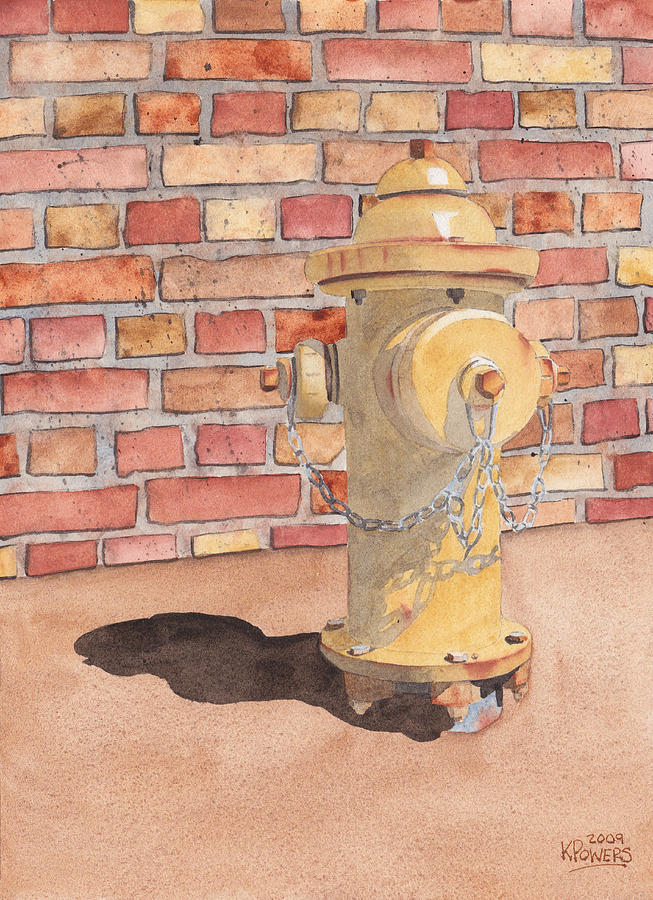 Fire Painting - Hydrant by Ken Powers