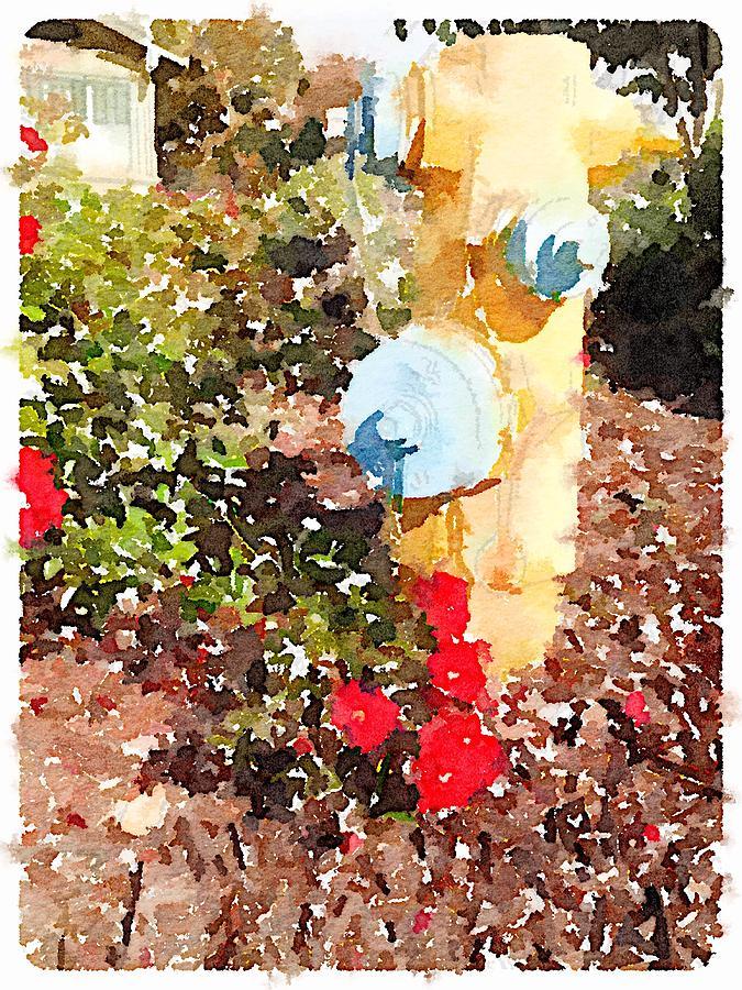 Fire Hydrant Digital Art - Hydrant by Shannon Grissom