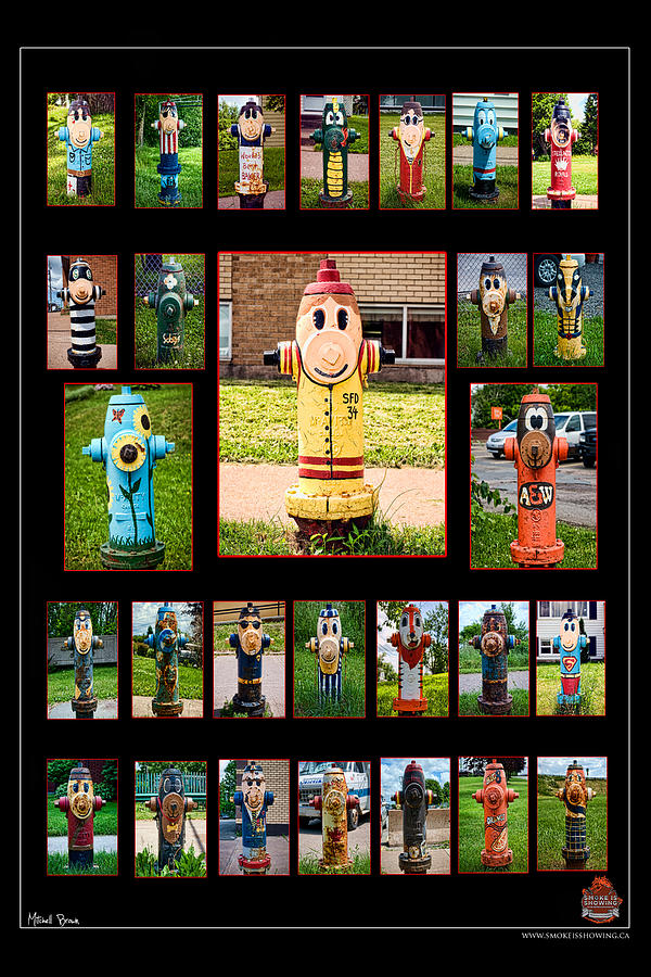 Firefighter Photograph - Hydrants by Mitchell Brown