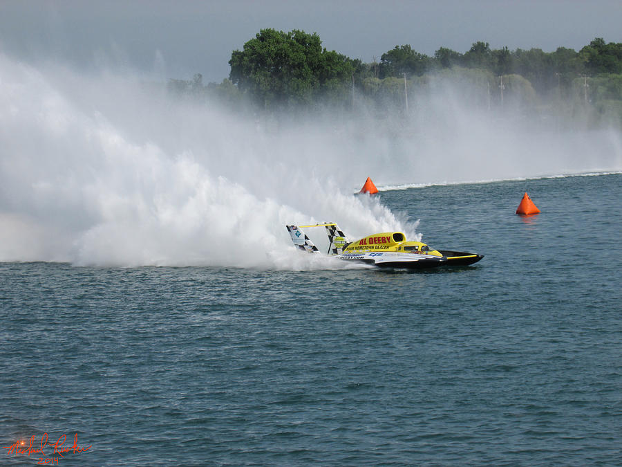 Gold Cup Photograph - Hydroplane Gold Cup Race by Michael Rucker