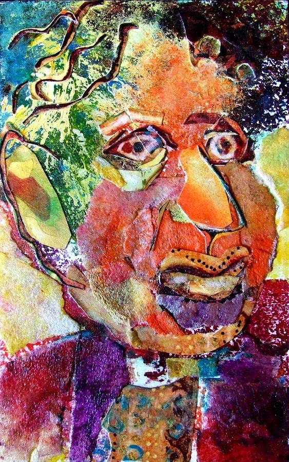 Male Portrait Mixed Media - Hymie by Diane Fine