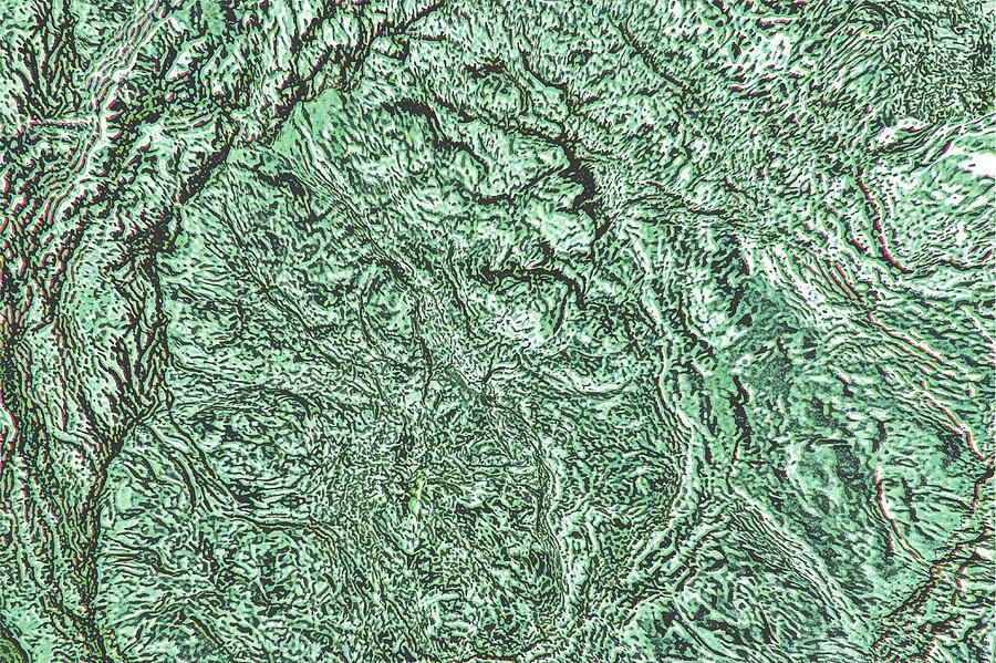 Hyper Realistic Aerial View Of Earth Digital Art by Georgepeters