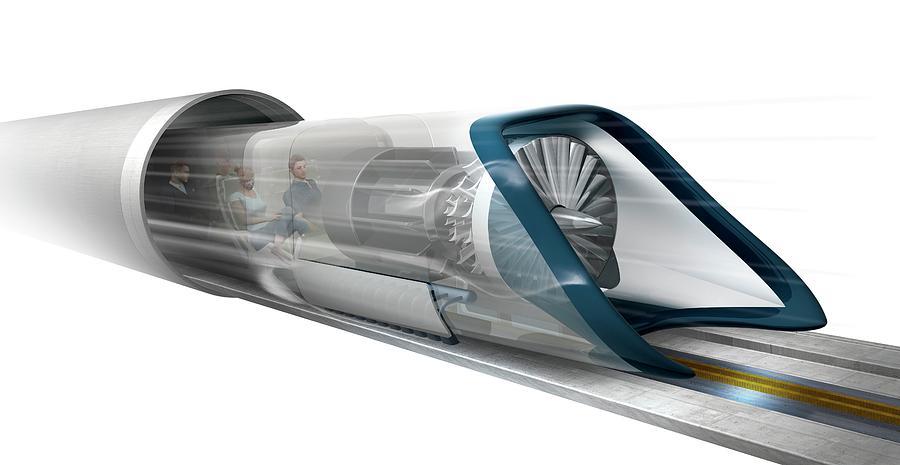 Hyperloop Photograph - Hyperloop Transport by Claus Lunau