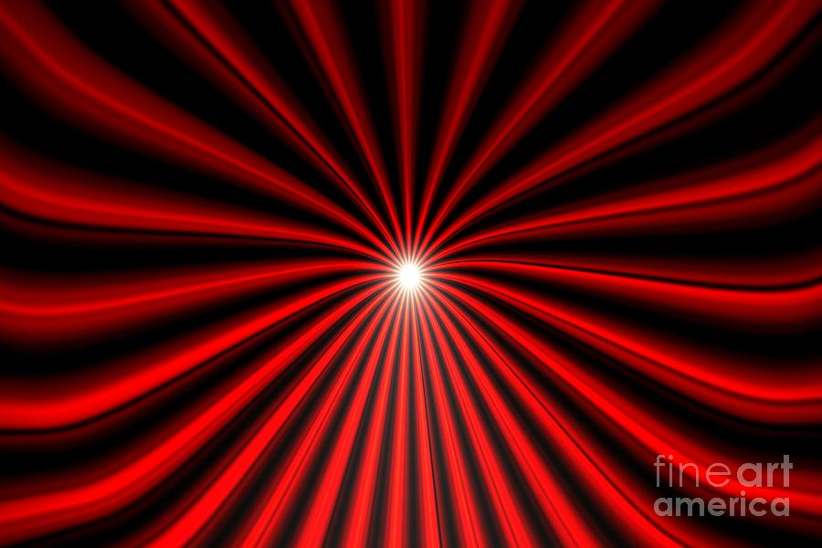 Hyperspace Red Landscape Painting
