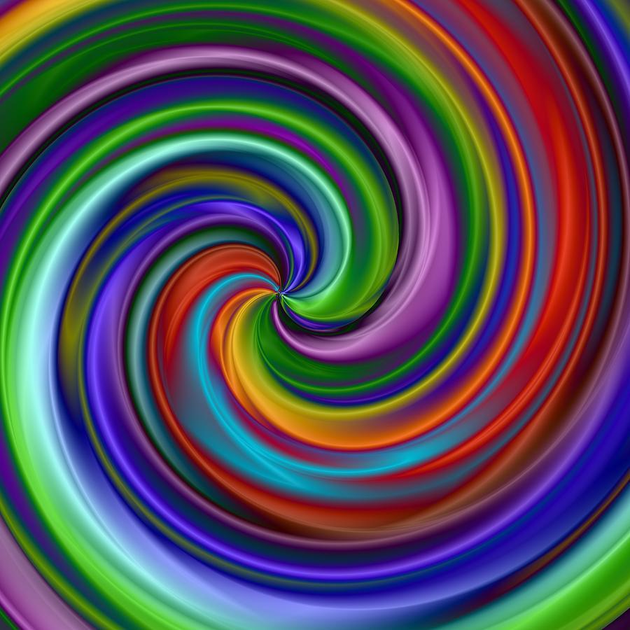Hypnotic Digital Art - Hypnotic by Krazee Kustom