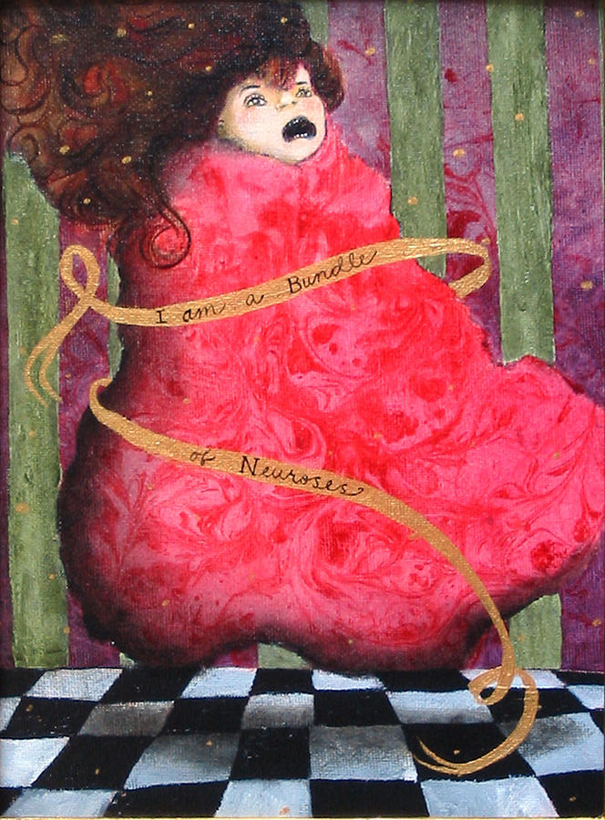 Figure Painting - I Am A Bundle Of Neuroses by Pauline Lim