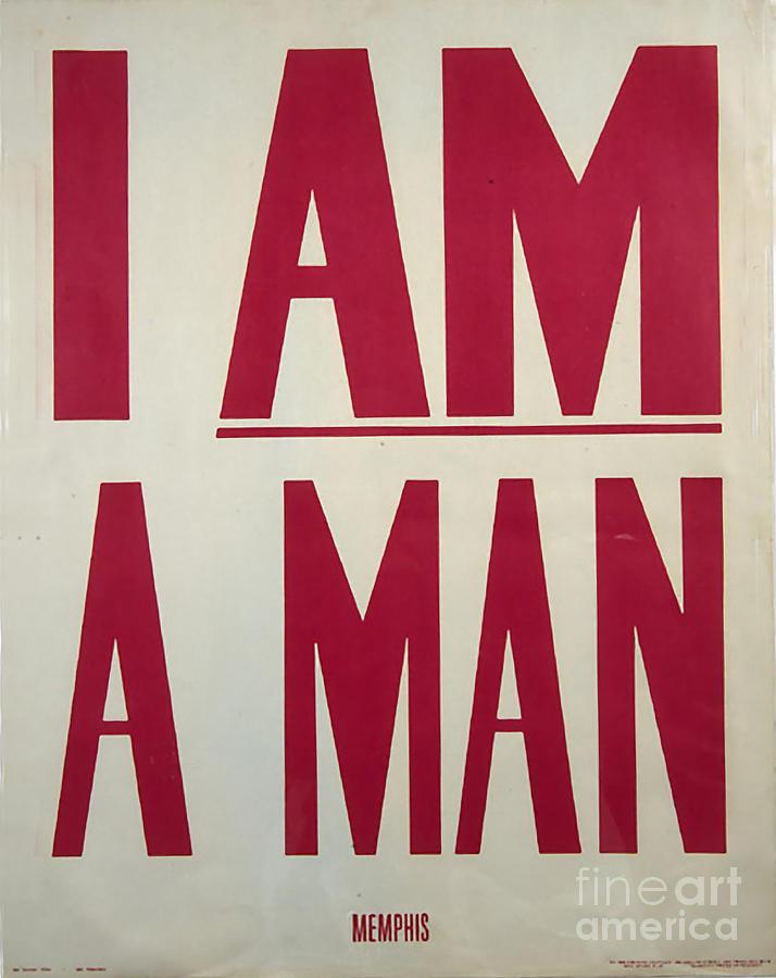 I Am A Man Painting - I Am A Man by Baltzgar