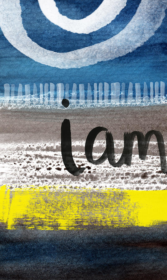 Abstract Landscape Painting - I Am- Abstract Painting by Linda Woods