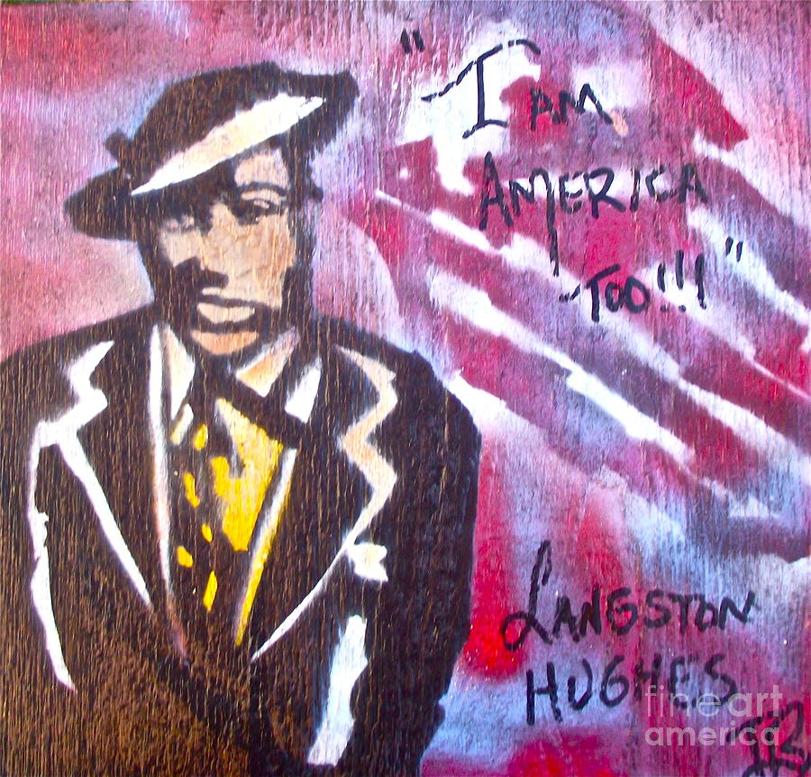 Langston Hughes Painting - I Am America Too by Tony B Conscious