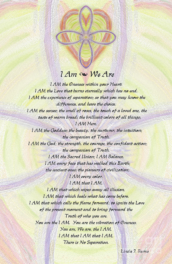 I Am Painting - I Am Blessing by Linda Burns