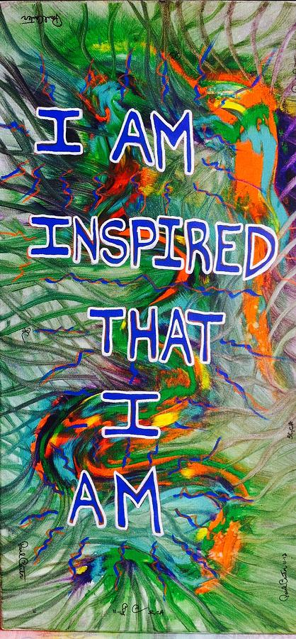Inspirational Painting - I Am Inspired by Paul Carter
