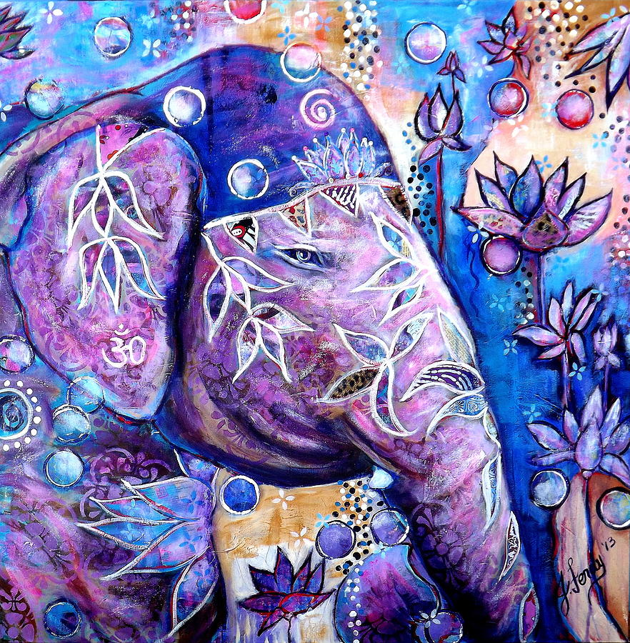 Yoga Painting - I am Light by Goddess Rockstar